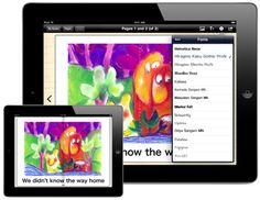 Book Creator. Use film, sound, text and pictures in you book.