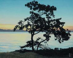 Ron Parker - Sunrise Arbutus - oil on canvas - 16 x 20