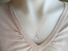 Crystal Heart  Eire Wrapped Necklace 14 Kt Gold by DonnaJJewelry, $24.00