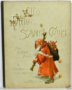 Santa Claus Xmas Tree Book Antique RARE Child Victorian Decoration Ornament Vtg | eBay