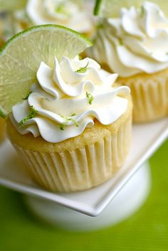 Margarita cupcakes and not the type where the alcohol burns off!