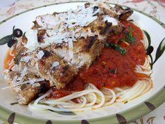 Tagliarini Picchi Pacchiu with Chicken