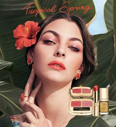 Discover Tropical Spring make up 2017 collection  vibrant pink and coral  lipsticks 1b24fd66dea