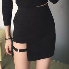 Black punk skirt 0 - Tap the link to see the newly released collections for amazing beach jewelry! :D