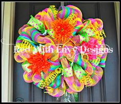 Hey, I found this really awesome Etsy listing at http://www.etsy.com/listing/152047394/summer-wreath-wreath-deco-mesh-wreath