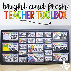 I'm still so in love with my teacher toolbox facelift!! This just makes me so happy to look at, and I love how easy it was to set up!…