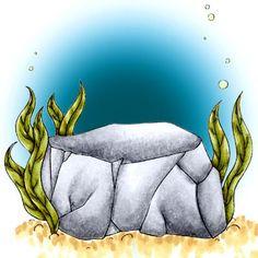 Underwater Rock Digi Stamp in Digital images