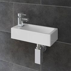 cloakroom wash basin - Google Search Small Cloakroom Basin, Small Basin, Basin Sink Bathroom, Small Bedroom Hacks, Bathroom Corner Shelf, Small Toilet Room, Floating Sink, Basin Vanity Unit, Wall Mounted Basins