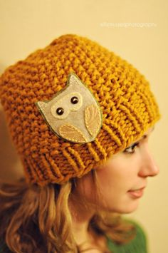 Earlis the Owl Hat by KoalaKnits on Etsy Crochet Crafts, Crochet Projects, Knit Crochet, Sewing Projects, Loom Knitting, Knitting Patterns, Crochet Patterns, Owl Crafts, Yarn Crafts