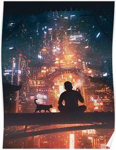 Digital Painting Inspiration Vol. 32 - Digital Painting Inspiration Vol. Cyberpunk City, Ville Cyberpunk, Cyberpunk Kunst, Cyberpunk Aesthetic, Futuristic City, Cyberpunk Anime, Cyberpunk 2077, Fantasy Landscape, Fantasy Art