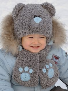 Baby Bear Hat Kids Hats kids bear costume Teddy Bear Hat