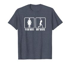 Mens Your Wife My Wife Spouse Husband Racquet Tennis T-Shirt Your Wife My Wife, Tennis Quotes, Branded T Shirts, Fashion Brands, Husband, Tea, Amazon, Funny, Clothing