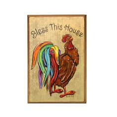 ROOSTER ART Bless This House by RustiLee on Etsy, $44.99