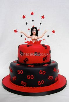 Adult Cakes (Over Archives - Gina Molyneux - Cake Artistry 50th Birthday Cake For Women, 30th Birthday Cake Topper, Funny Birthday Cakes, Adult Birthday Cakes, Birthday Woman, Happy Birthday, Stripper Cake, Bachelor Party Cakes, Recipes