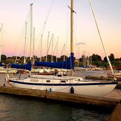 SV Azura sitting in her slip at the marina - booms finally back in place Sailing Ships, Boat, Photo And Video, Videos, Places, Instagram, Dinghy, Boats, Sailboat