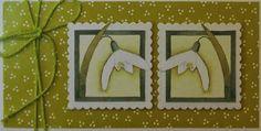 Marjoleine's blog: Een doosje en een kaart met sneeuwklokjes