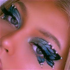 Edgy Makeup, Makeup Eye Looks, Eye Makeup Art, Cute Makeup, Gorgeous Makeup, Pretty Makeup, Beauty Makeup, Hair Makeup, Eye Makeup Designs