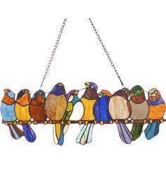 Bird Stained Glass Sun Catcher Gift