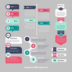 elementi infographic con colori d. Free Infographic Templates, Infographic Powerpoint, Powerpoint Design Templates, Timeline Infographic, Ppt Design, Slide Design, Layout Design, Design Elements, Pamphlet Design