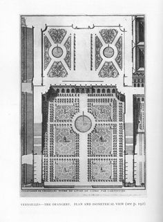 Versailles, The Orangery: Plan and Isometric view