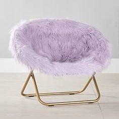 Himalayan Faux-Fur Hang-A-Round Chair, Dusty Lavender – purple – Furniture – Lounge + Accent Chairs – Pottery Barn Teen Purple Dorm Rooms, Purple Bedroom Decor, Purple Bedrooms, Bedroom Decor For Teen Girls, Girl Bedroom Designs, Teen Room Decor, Teen Girl Bedrooms, Room Ideas Bedroom, Lavender Girls Bedrooms