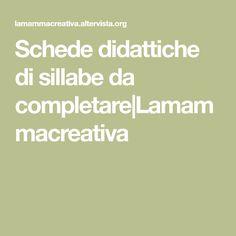 Schede didattiche di sillabe da completare|Lamammacreativa