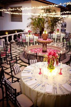 palm tree and reception decor images | choose any size light. You can string them around trees, from trees ...