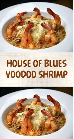 House of Blues Voodoo Shrimp Copycat RecipeTo serve, cut a wedge of cornbread in half. Place bottom half in a shallow serving bowl and top with shrimp and some of the sauce.Seafood, edible aquatic animals, excluding mammals, but including Cajun Recipes, Copycat Recipes, Fish Recipes, Great Recipes, Dinner Recipes, Cooking Recipes, Favorite Recipes, Healthy Recipes, Best Seafood Recipes