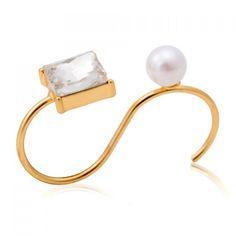 Cute Faux Pearl Cuff Ring For Women #jewelry, #women, #men, #hats, #watches