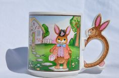 Vintage 80's Cameron Japan Easter Bunny Mug by FinchAvenueVintage