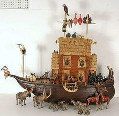 Noah's Ark ( Love the Birds on the Top Rail )