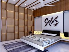 Contemporary House With a Simple Layout- bedroom design - Salvabrani Bedroom Furniture Design, Bed Design Modern, Bedroom Decor Design, Room Design, Ceiling Design Bedroom, Bedroom Cupboard Designs, Bed Furniture Design, Wardrobe Design Bedroom, Bedroom Bed Design