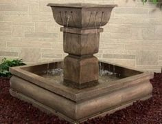 Large Square Courtyard Outdoor Water Fountain   eBay #fountain #waterfeature #gardendecor