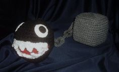 Chain Chomp Amigurumi - I think I'll actually make this one a lot larger, about the size of, say, a stool with an attached chomper?