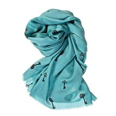 Key Scarf in Turquoise #women #ladies #fashion #scarf #keys