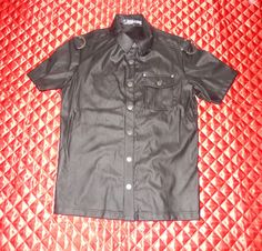 LIP SERVICE Patent Vinyl And Vegi Leather Classics short sleeve shirt #M38-142