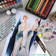 #workinprogress #painting #artwork #illustration #fashionillustration #artist #paulkengillustrator #fashiondesign #fashiondesigner #fashionstudy #fashionsketch #fashionlover #fashion #couture