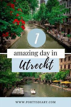 Looking for a one day trip suggestion in the Netherlands? Then on this post, I'm sharing how you can spend one amazing day in Utrecht, right at the heart of the Netherlands! Holland Netherlands, Welcome Aboard, One Day Trip, Utrecht, Cool Places To Visit, Travel Guides, Traveling By Yourself, Travel Destinations, Europe