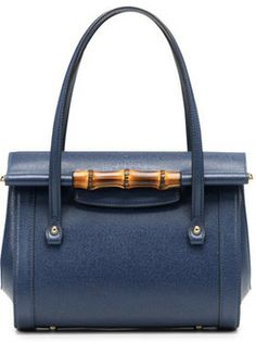Gucci New Bullet Small Leather Top Handle Bag, Navy on shopstyle.com