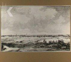 Jan de Bisschop and Isaac de Moucheron, 's-Gravenhage vanuit het zuidwesten gezien, links de Zeestraat, in de verte Delft, Graphische Sammlung Albertina, Wenen , inv./cat.nr 10112