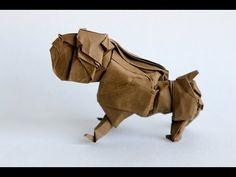 Origami bulldog by Quentin Trollip - YouTube