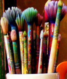 55 Best Ideas For Playroom Organization Diy Organize Toys Art Supplies Playroom . 55 Best Ideas For Playroom Organization Diy Organize Toys Art Supplies Playroom … 55 Best Ideas F World Of Color, Paint Brushes, Belle Photo, Art Studios, Love Art, Rainbow Colors, All The Colors, Art Supplies, Color Inspiration
