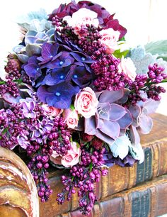 Radiant Purple Arrangement with Succulents | Rolling Greens