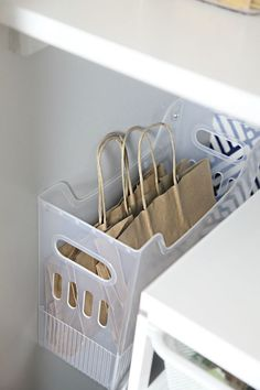 56 My Favorite Tips for Organizing a Deep Pantry – Storage Ideas Deep Pantry Organization, Pantry Storage, Diy Storage, Organization Hacks, Kitchen Storage, Organizing Ideas, Pantry Ideas, Organizing A Pantry, Gift Bag Storage