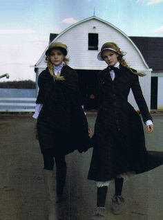 Jessica Stam and Caroline Trentini by Peter Lindbergh for Harper's Bazaar, October 2006