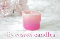 E l l e S e e s: DIY Ombre Crayon Candles