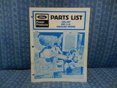 1978 Ford Power Products CSG-649 300 CID Gasoline Engine Original OEM Parts List #Ford