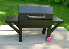 AVAILABLE for APRIL DELIVERY - Doll Grill Outdoor Furniture for American Girl Doll or 18-inch Doll. $80.00, via Etsy.
