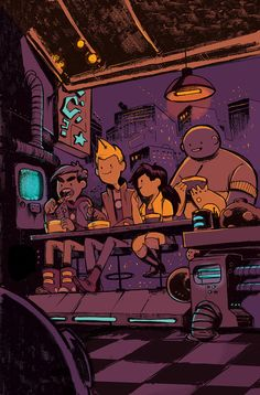 Bravest Warriors - Cover by Ian McGinty Cartoon Shows, A Cartoon, Cartoon Characters, Cartoon Network, Pendleton Ward, Bravest Warriors, Adventure Time Anime, Oeuvre D'art, Concept Art