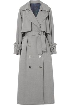 Golden Goose - Vela wool-drill trench coat - Women's style: Patterns of sustainability Trench Coat Sale, Designer Trench Coats, Larsson And Jennings Watch, Hijab Style, Pinstripe Pants, Coat Dress, Look Cool, Winter Coat, Coats For Women